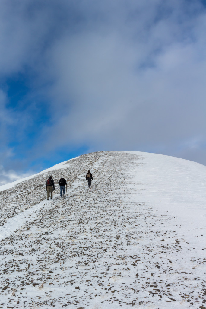 The final ascent.