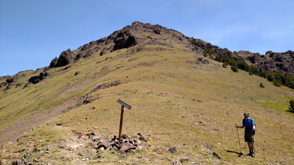Looking up towards Elephant Mountain. I love the crooked sign.