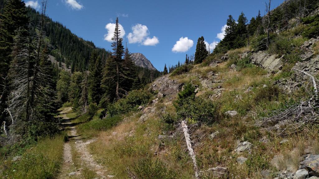 Granite Peak. Granite Lake is at its base.