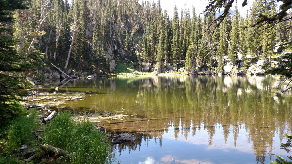 One of the small, unnamed lakes.