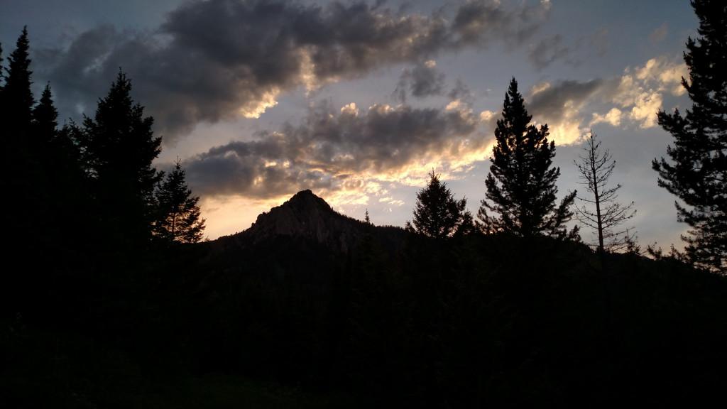 Ross Peak against the sunset.