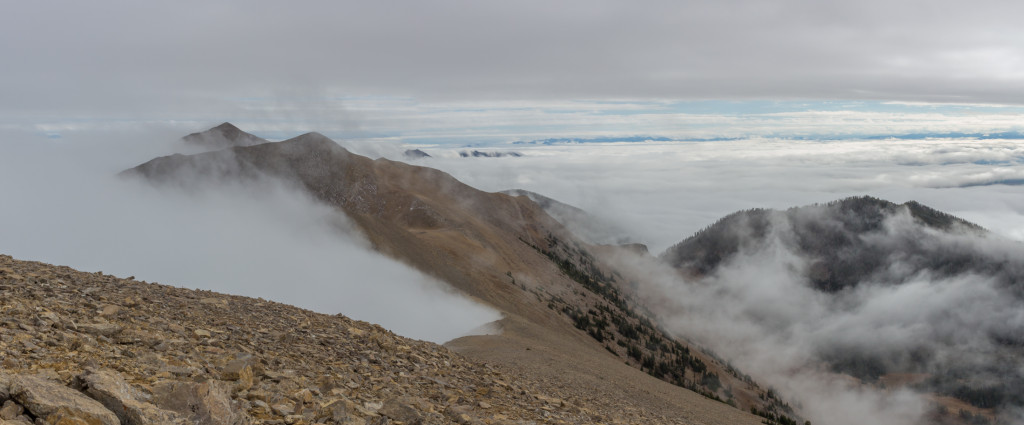 Looking south from the summit of Hardscrabble.