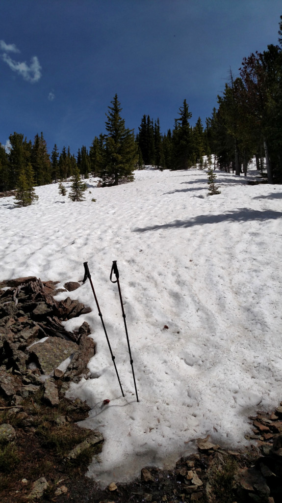 There was still some snow along the ridge but it was easy to avoid.