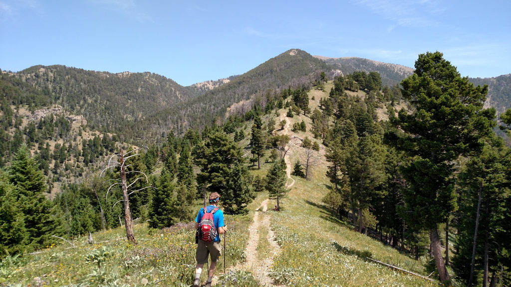 Sypes Canyon to Baldy (just peaking out on the right). Photo taken July 2015.
