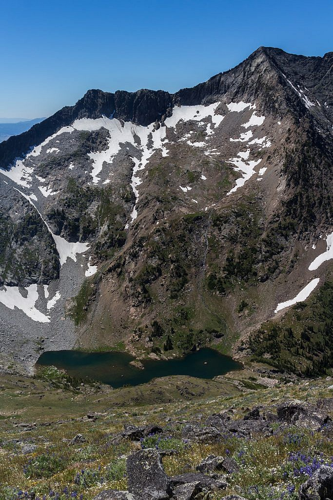 View of Glacier Lake from the saddle.