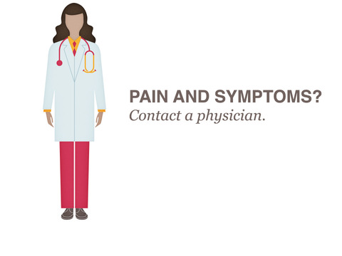 Pain and symptoms? Contact your physician.