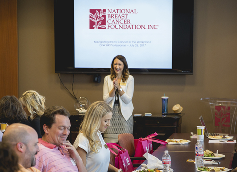 HR professionals attending a training session on Navigating Breast Cancer in the Workplace.