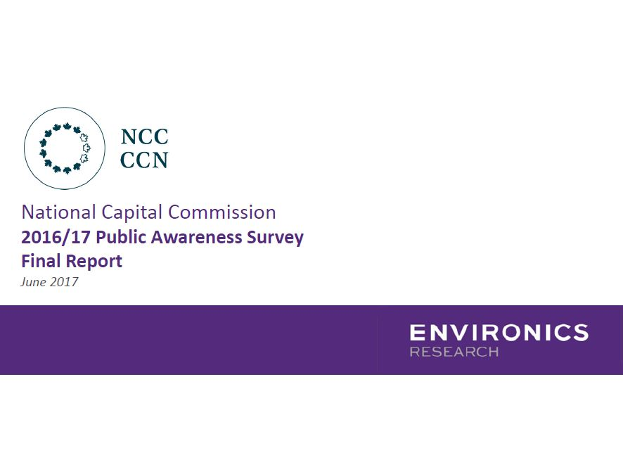 2016-17 National Capital Commission Public Awareness Survey Results