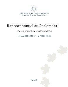 Loi sur l'accès à l'information 1er avril au 31 mars 2018