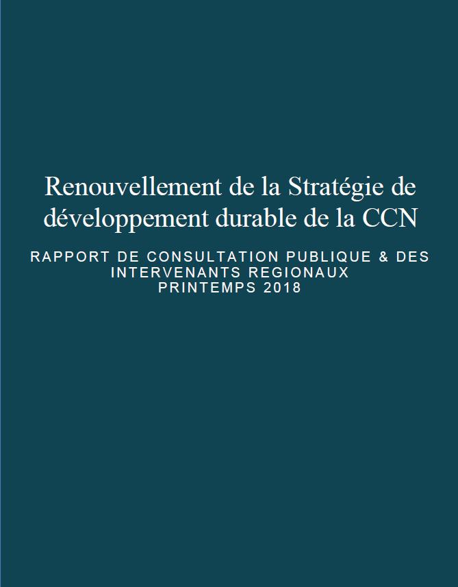 Renouvellement de la Stratégie de développement durable de la CCN