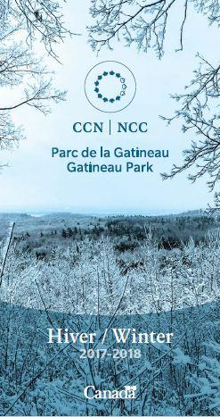 Gatineau Park General Winter Map 2017-2018
