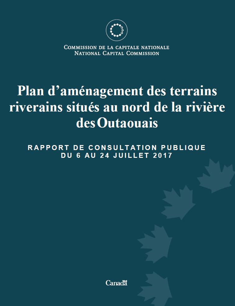 Rapport de consultation publique plan d'aménagement des terrains riverains situés au nord de la rivière des Outaouais