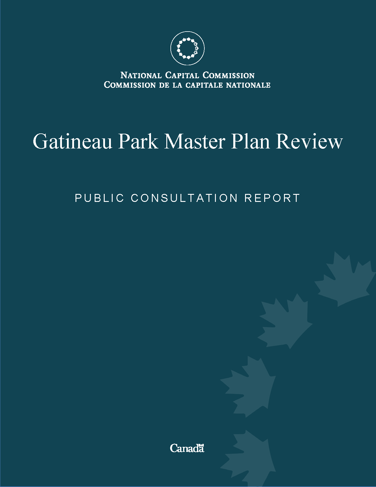 Gatineau Park Master Plan Review - Public Consultation Report Phase 2