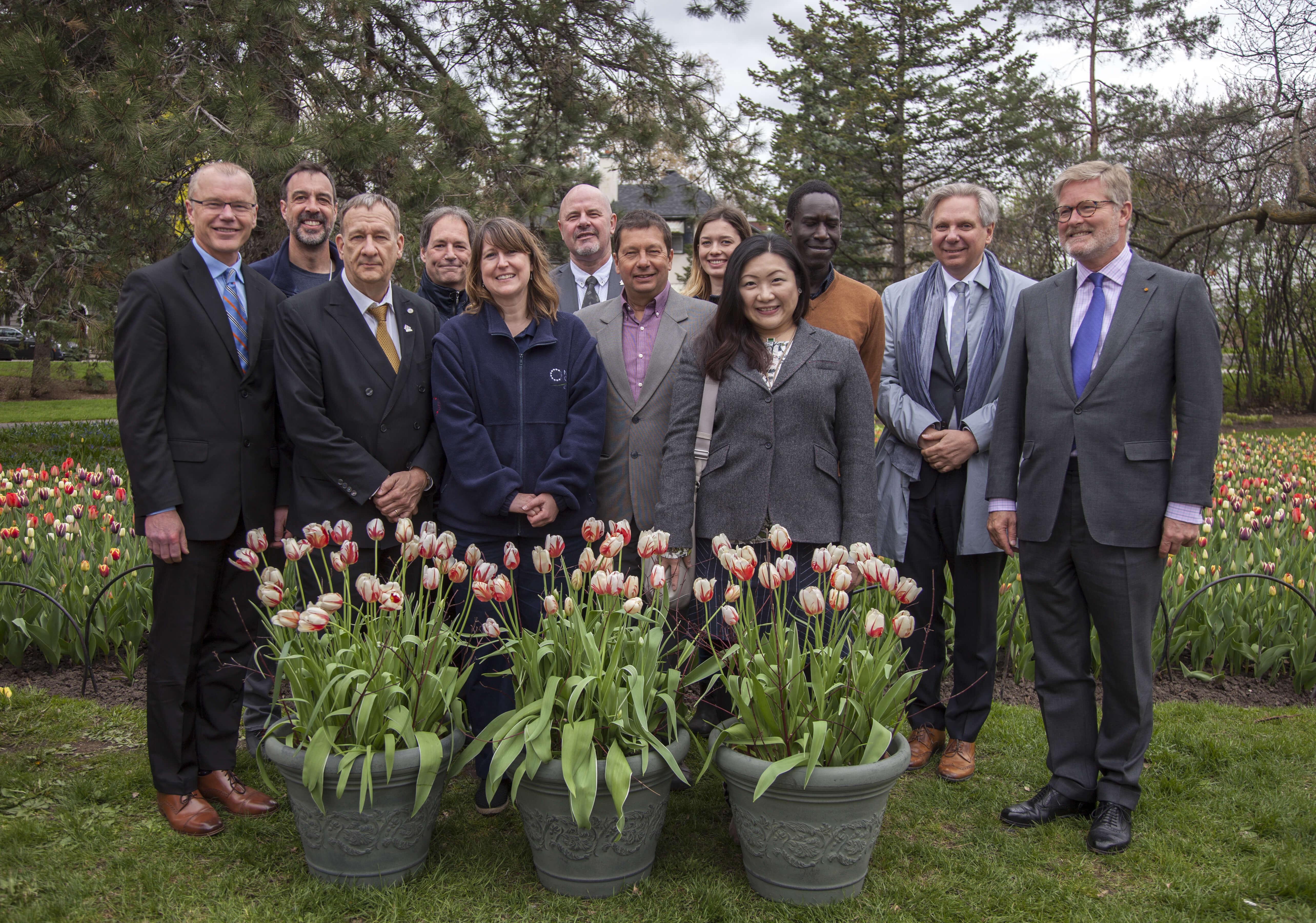 Canada 150 tulip launch event