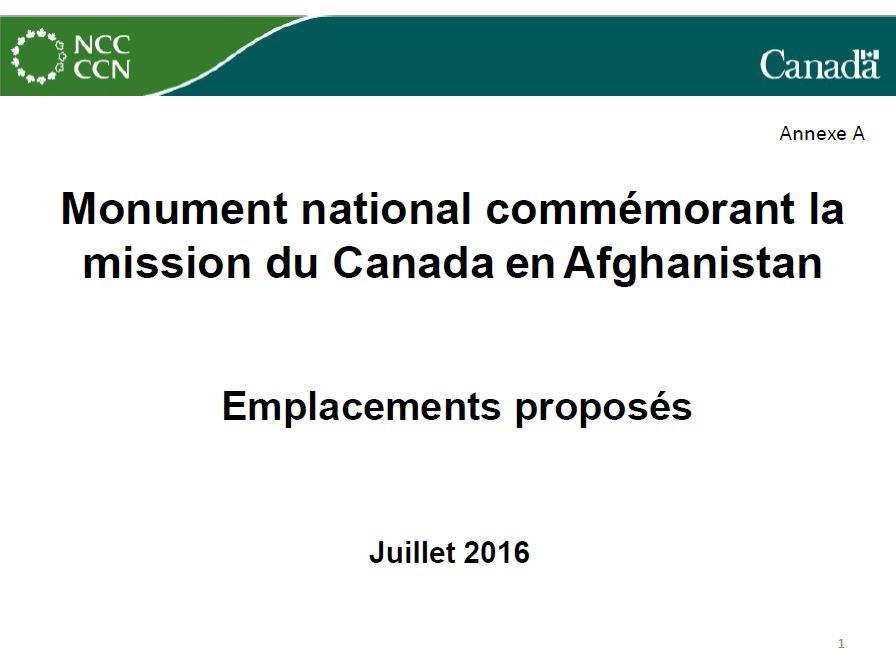 Monument national à la mission du Canada en Afghanistan