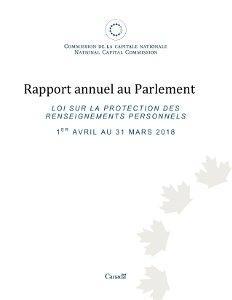 Loi sur la protection des renseignements personnels 1er avril au 31 mars 2018
