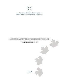 Rapport financier trimestriel pour les trois mois terminés le 30 juin 2018