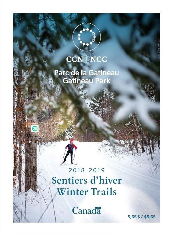 Gatineau Park Winter Trails Map 2019