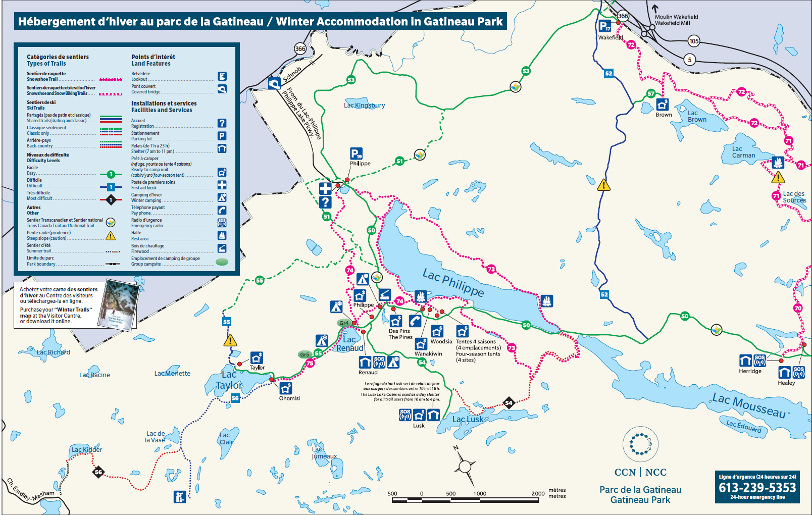 Winter Camping Map 2019