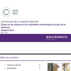 Étude sur les visiteurs et les retombées économiques du parc de la Gatineau - Rapport final - Mars 2017