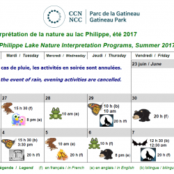 Philippe Lake Nature Interpretation Programs - Summer 2017