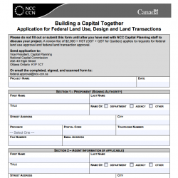 Building a Capital Together - Application for Federal Land Use, Design and Land Transactions