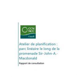 Atelier de planification - parc linéaire le long de la promenade Sir-John-A.-Macdonald - Rapport de consultation 2014