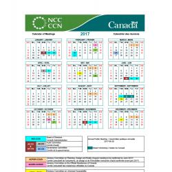 CCN calendrier des réunions 2017