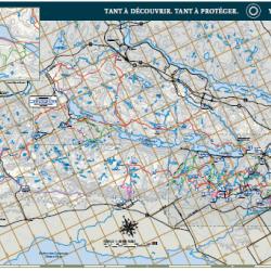 Carte des sentiers d'été du parc de la Gatineau