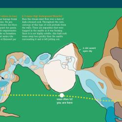 Caverne Lusk - Plan souterrain