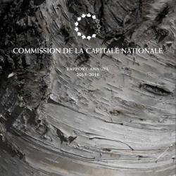 Commission de la capitale nationale - Rapport Annuel - 2015-2016