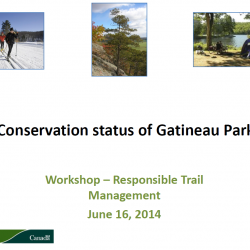 Conservation status of Gatineau Park - Responsible Trail Management