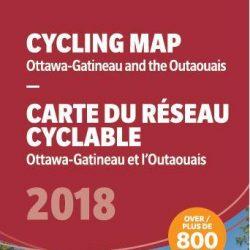 Carte du réseau cyclable d'Ottawa–Gatineau 2018
