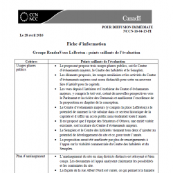 Groupe RendezVous LeBreton - points saillants de l'évaluation
