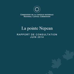 La pointe Nepean - Rapport de consultation