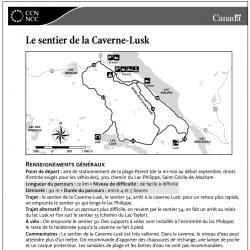 Le sentier de la Caverne Lusk