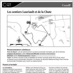 Les sentiers Lauriault et de la Chute