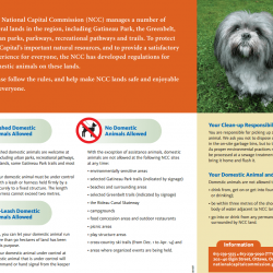 National Capital Commission Animal Regulations