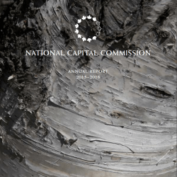 National Capital Commission - Annual Report - 2015-2016