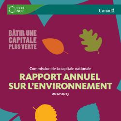 Rapport annuel sur l'environnement 2012-2013