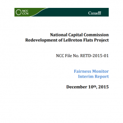 Redevelopment of LeBreton Flats - Fairness Monitor Interim Report - December 2015