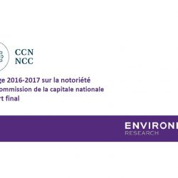 Sondage 2016-2017 sur la notoriété de la Commission de la capitale nationale