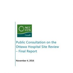 Public Consultation on the Ottawa Hospital Site Review – Final Report