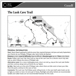 The Lusk Cave Trail