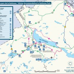 Camping And Accommodation National Capital Commission - Gatineau map