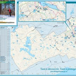 Gatineau Park Winter Trail Map, 2016-2017