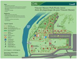 Aires de piquenique du parc Vincent Massey