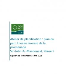 Atelier de planification: Plan du parc riverain de la berge sud de la rivière des Outaouais, Phase 2 - Rapport de consultation 2015