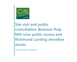 Consultation Report: Bronson Pulp Mill ruins public access and Richmond Landing shoreline access