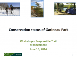Conservation status of Gatineau Park